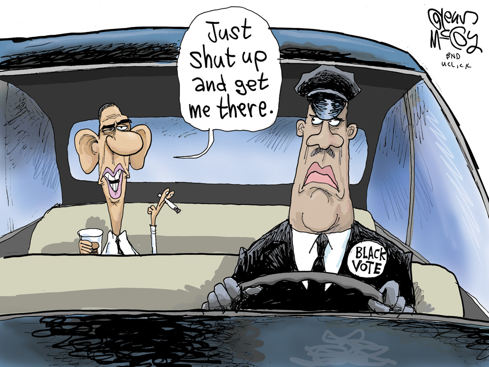 Obama: Just shut up and get me there.  Black vote