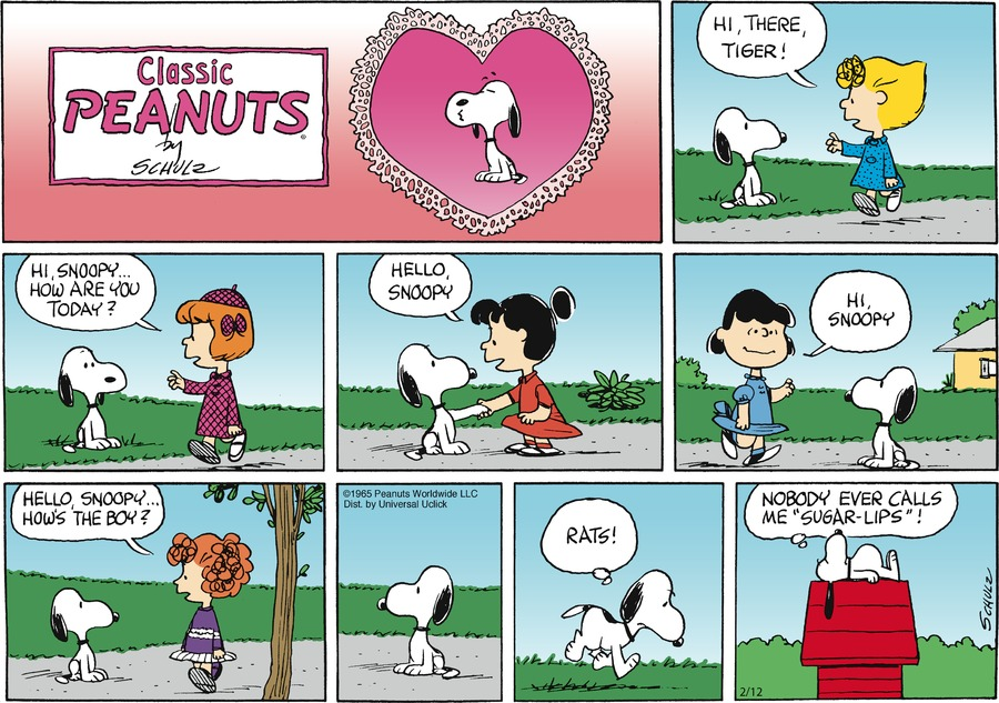 Peanuts Comic Strip for February 12, 2012