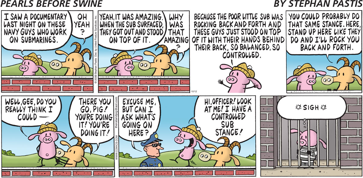 Pearls Before Swine for Oct 12, 2008 Comic Strip