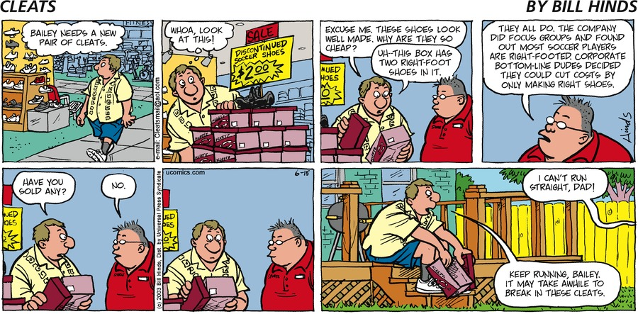 Cleats Comic Strip for June 15, 2003