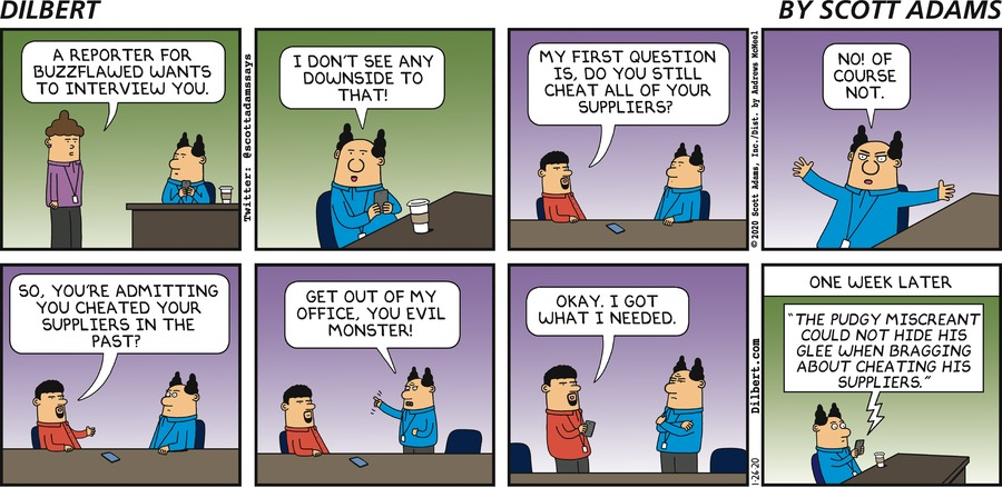 Buzzflawed Interview - Dilbert by Scott Adams