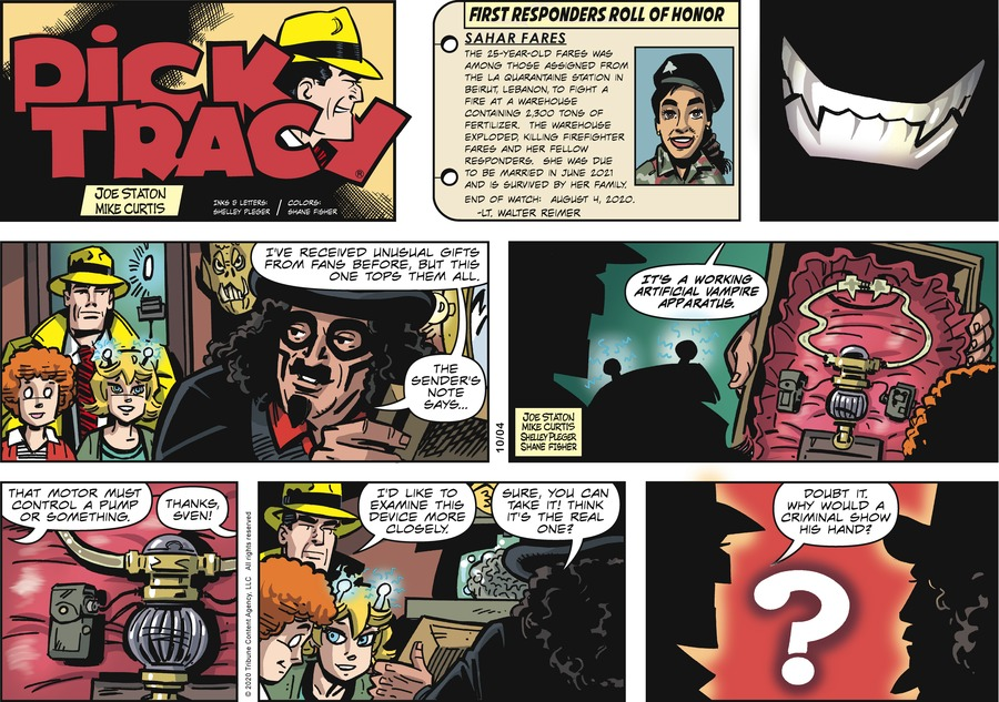 Dick Tracy Comic Strip for October 04, 2020