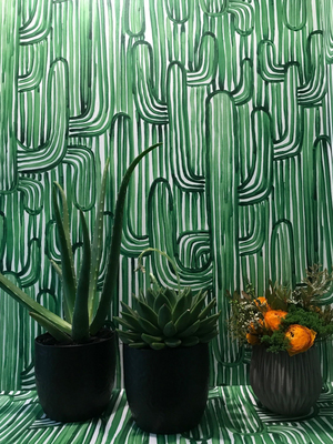 French fabrics maker Pierre Frey took a trip to the Southwest for the Grand Canyon collection. One pattern features cactus motifs.
