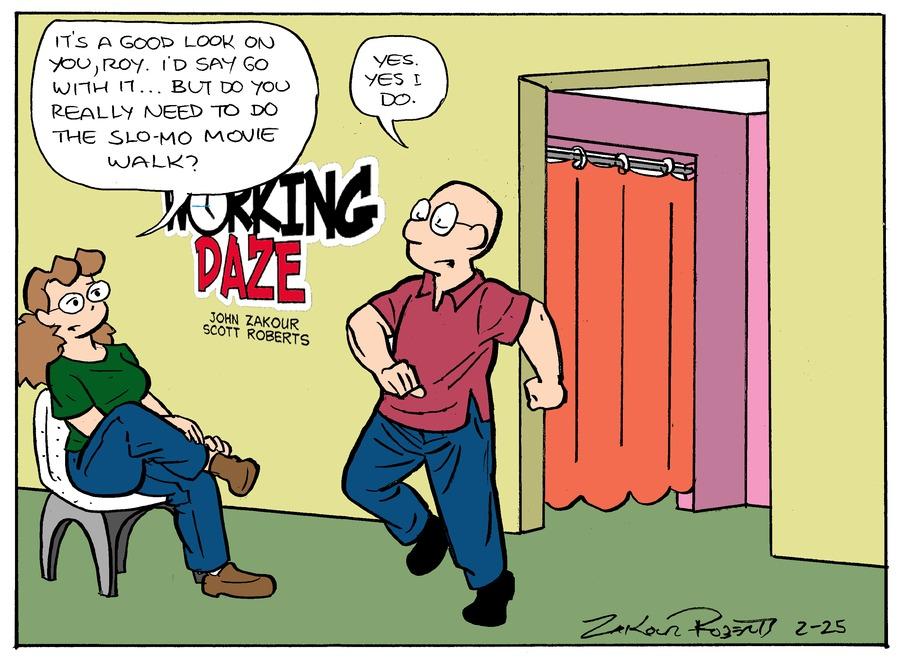Working Daze for Feb 25, 2018 Comic Strip