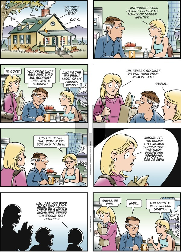 Doonesbury on Sunday September 24, 2017 Comic Strip