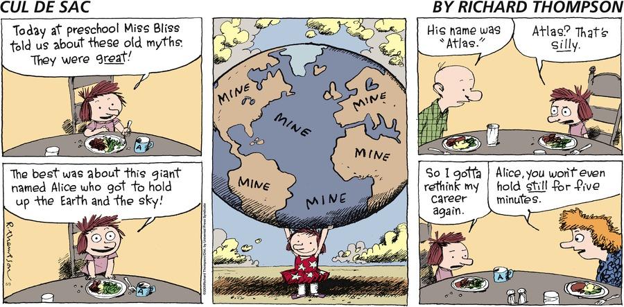 Cul de Sac Comic Strip for May 03, 2009