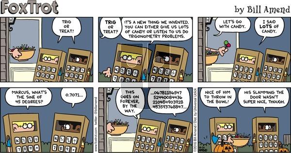 FoxTrot - Sunday October 30, 2016 Comic Strip