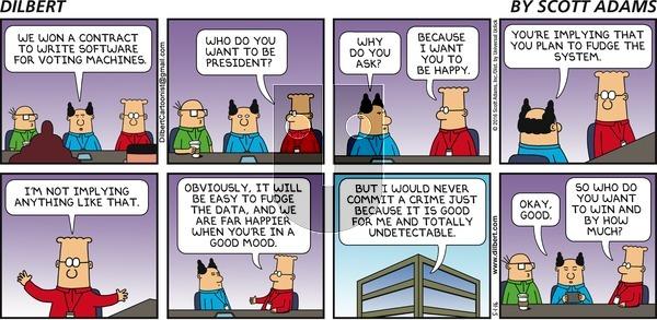 Dilbert - Sunday May 1, 2016 Comic Strip