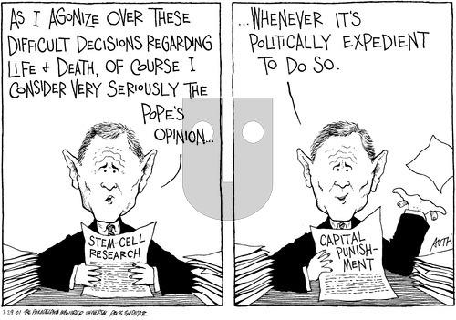 Tony Auth on Sunday July 29, 2001 Comic Strip