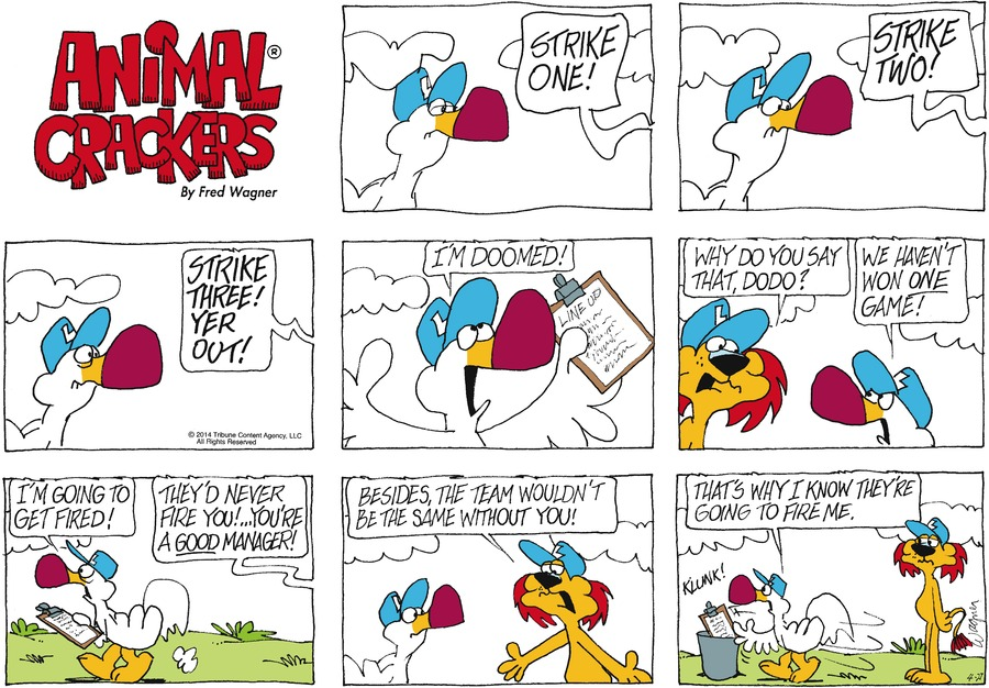 Animal Crackers for Apr 27, 2014 Comic Strip