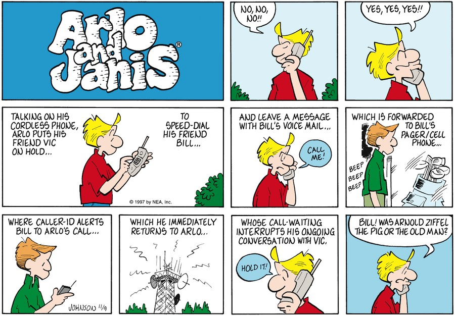 Arlo and Janis for Nov 9, 1997 Comic Strip