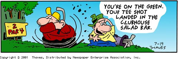 Frank and Ernest Comic Strip for July 19, 2001