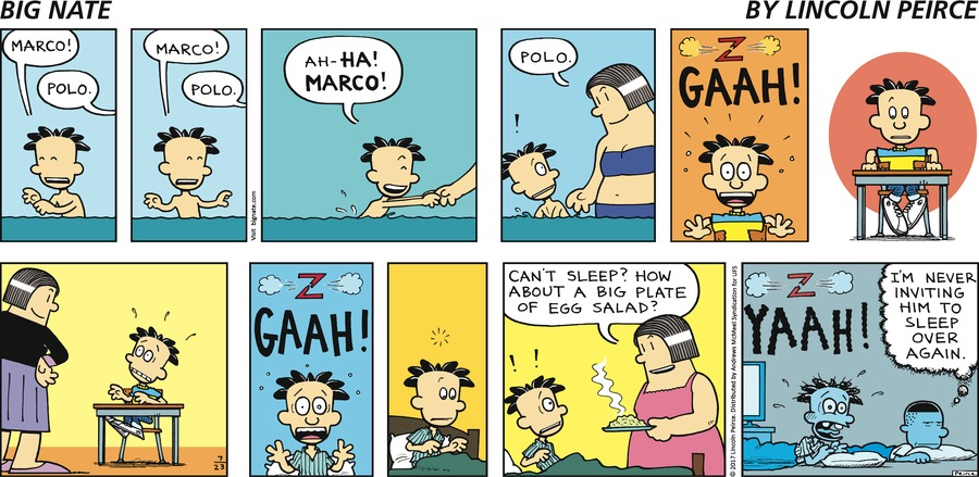 Big Nate Comic Strip for July 23, 2017