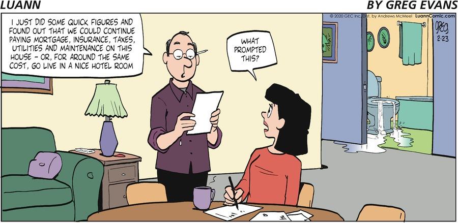 Luann Comic Strip for February 23, 2020