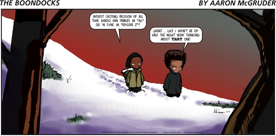 The Boondocks Comic Strip for February 24, 2002