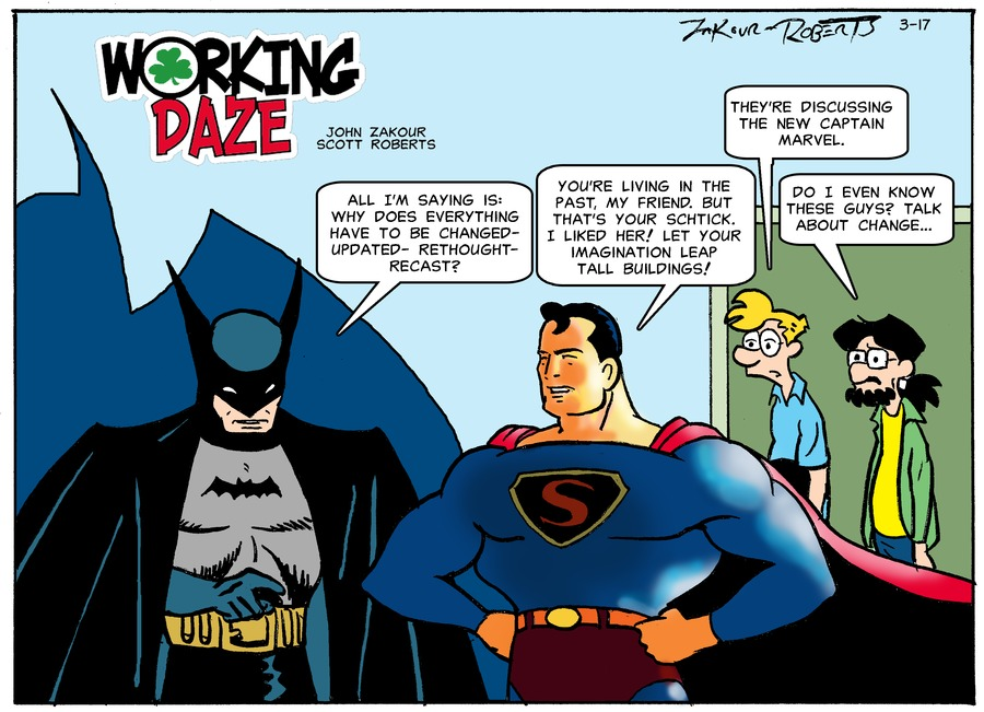 Working Daze Comic Strip for March 17, 2019