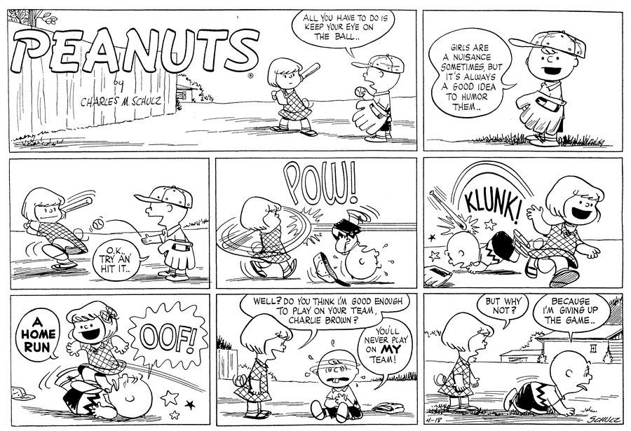Peanuts for Apr 18, 1954 Comic Strip
