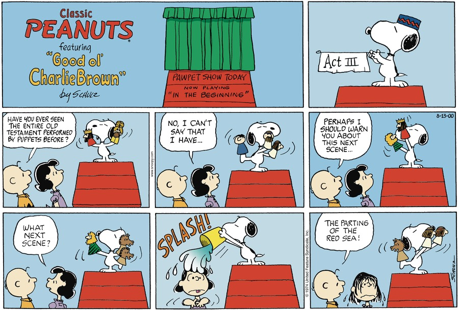 Peanuts Comic Strip for August 13, 2000