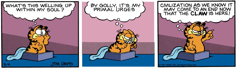 Garfield Classics by Jim Davis for March 10, 2019