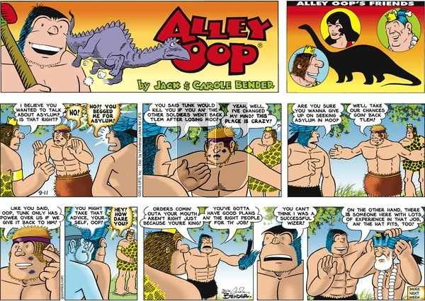 Alley Oop on Sunday September 11, 2016 Comic Strip