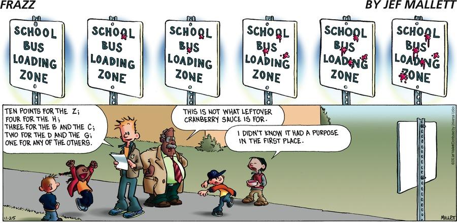 Frazz for Nov 25, 2012 Comic Strip