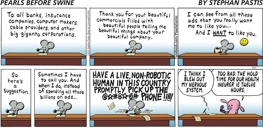 Pearls Before Swine Comic Strip for May 31, 2015
