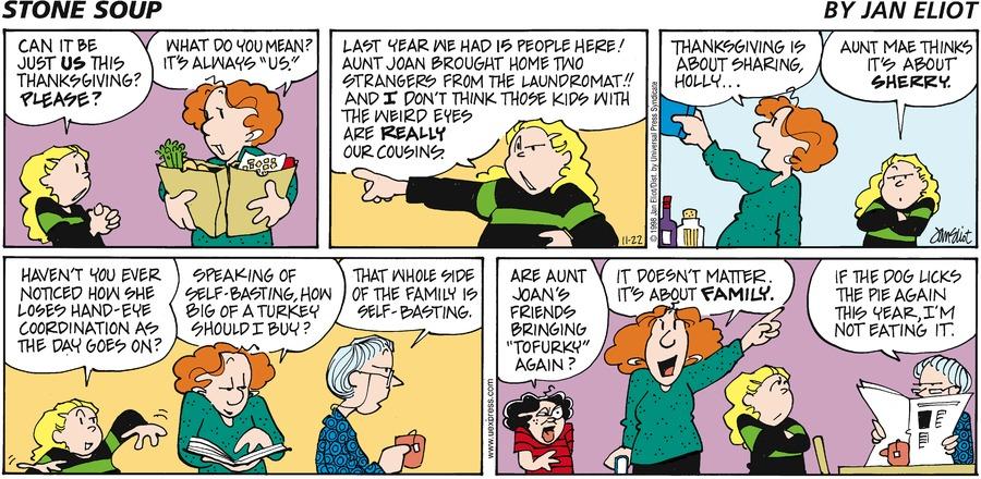 Stone Soup Comic Strip for November 22, 1998