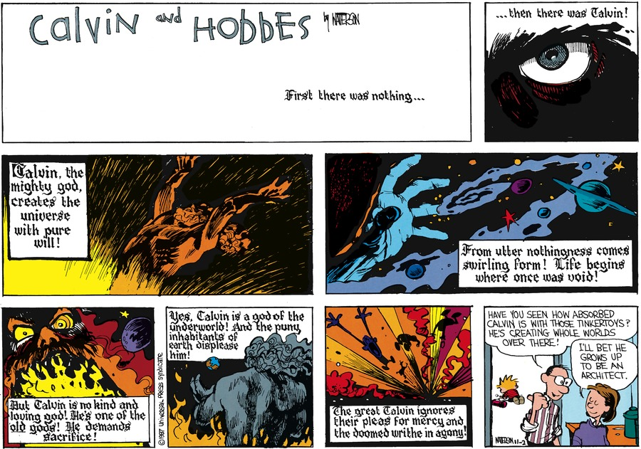 Calvin and Hobbes Comic Strip for December 06, 1987