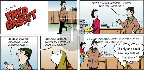 Fred Basset on Sunday February 23, 2020 Comic Strip