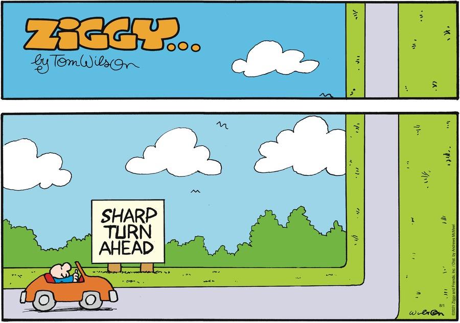 Ziggy Comic Strip for August 01, 2021