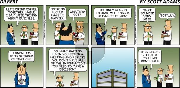 Dilbert on Sunday November 24, 2013 Comic Strip