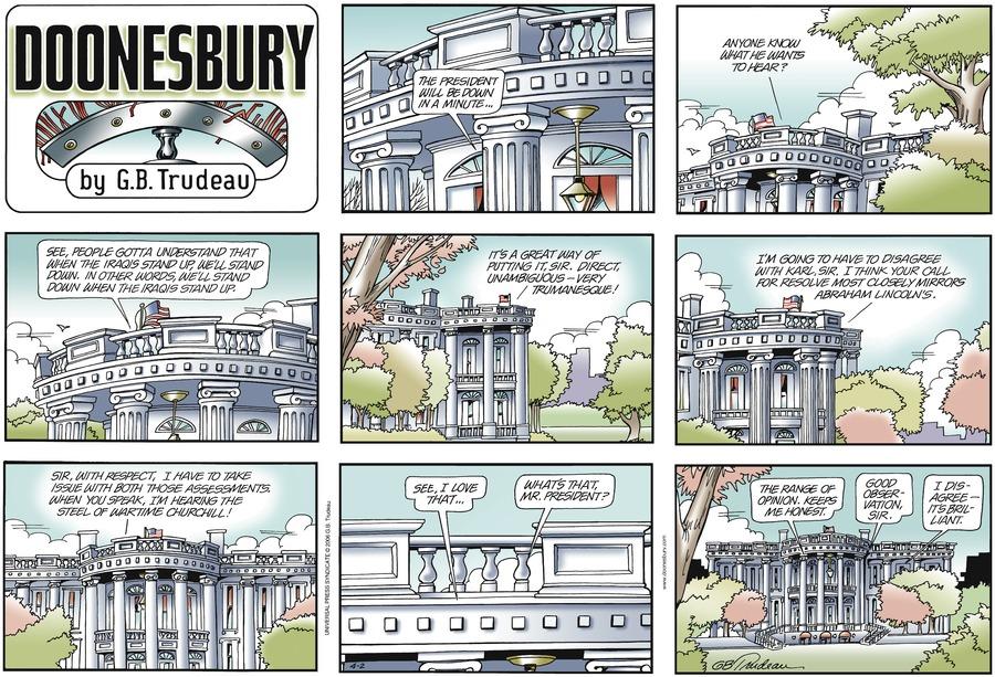 Doonesbury for Apr 2, 2006 Comic Strip