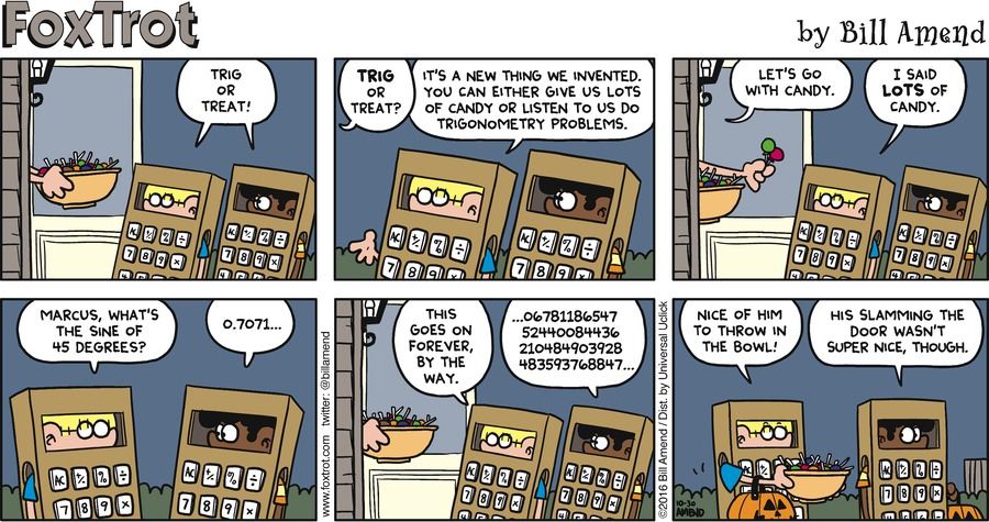 FoxTrot Comic Strip for October 30, 2016