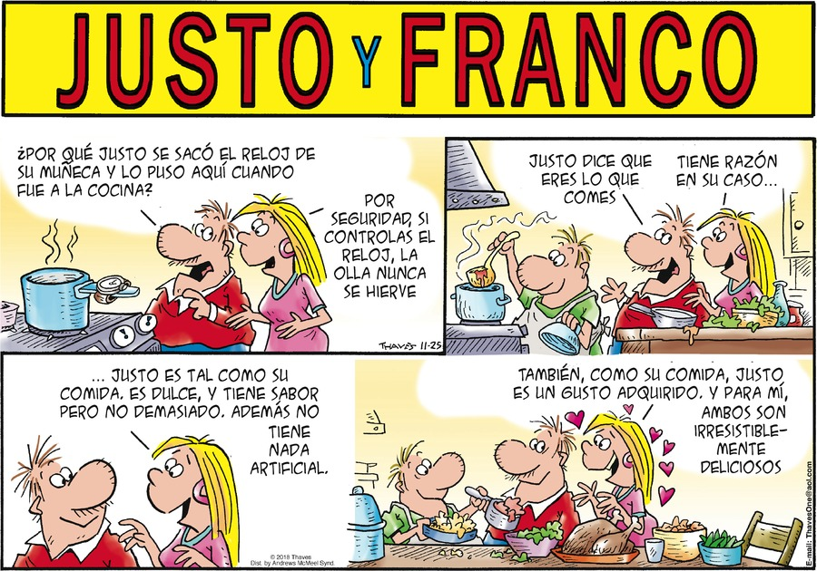 Justo y Franco by Thaves for November 25, 2018