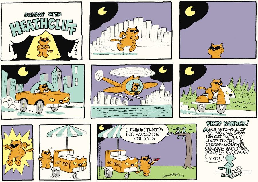 Heathcliff Comic Strip for September 06, 2020