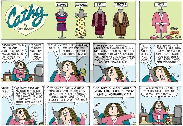 Cathy Classics on Sunday September 14, 1997 Comic Strip