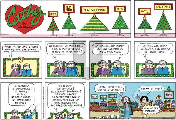 Cathy on December 9, 2007 Comic Strip