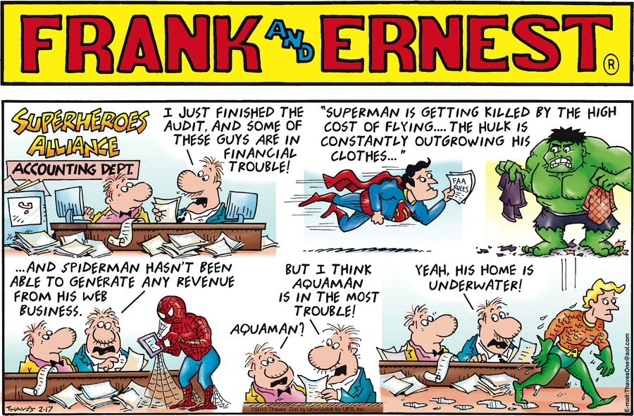 Frank and Ernest Comic Strip for February 17, 2013
