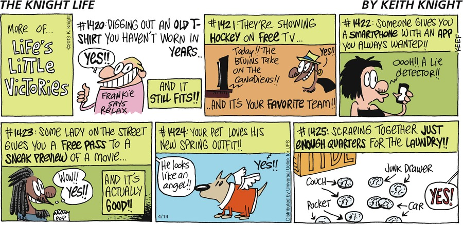 The Knight Life Comic Strip for April 14, 2013