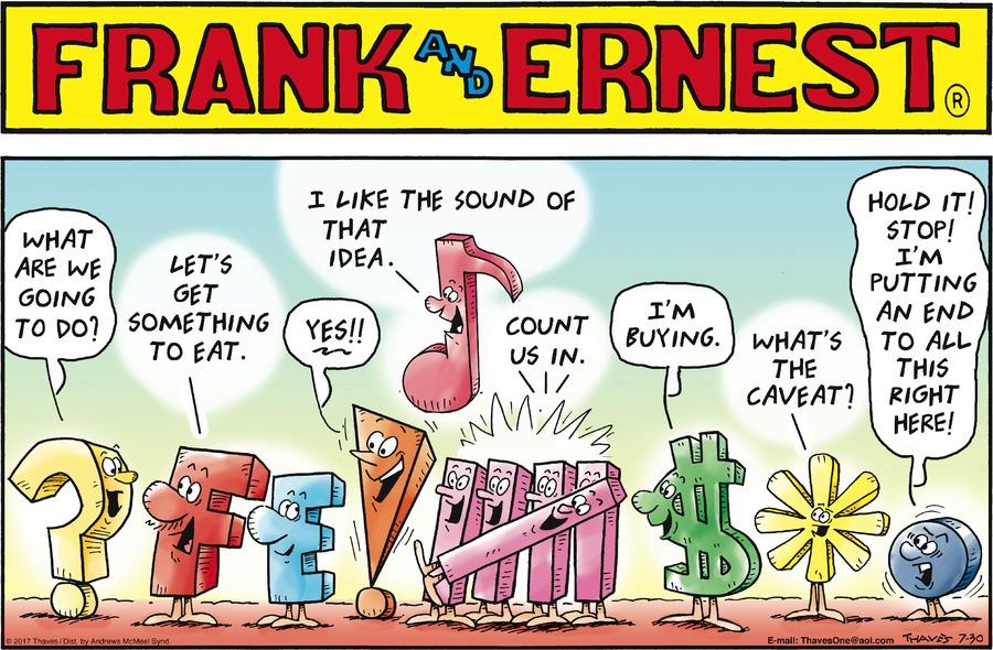 Frank and Ernest for Jul 30, 2017 Comic Strip