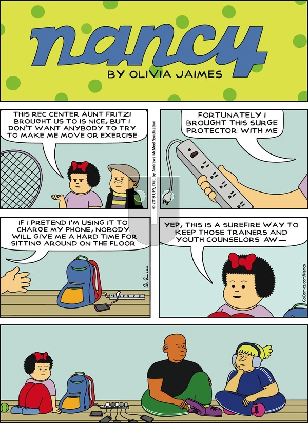 Nancy on Sunday June 23, 2019 Comic Strip