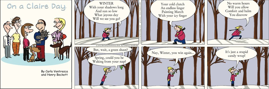 On A Claire Day Comic Strip for March 10, 2013