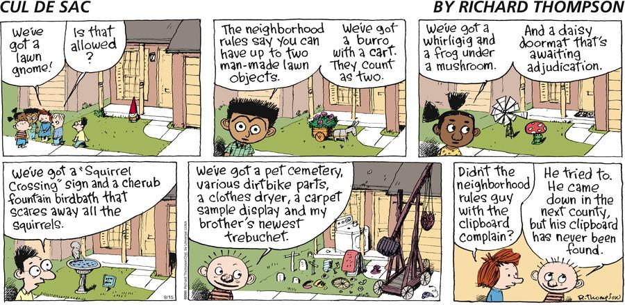 Cul de Sac for Sep 15, 2013 Comic Strip