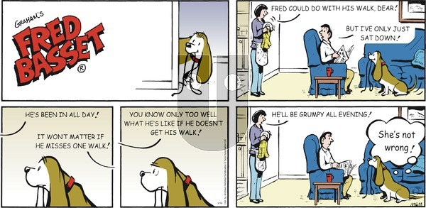 Fred Basset on Sunday May 16, 2021 Comic Strip