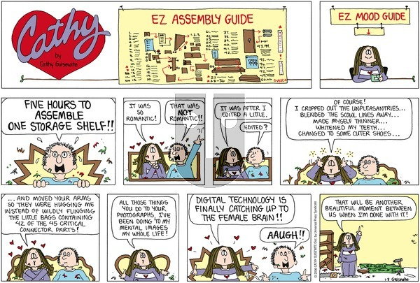 Cathy on Sunday January 8, 2006 Comic Strip
