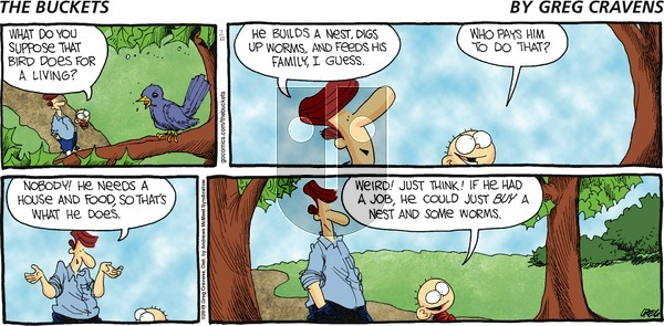 The Buckets on Sunday July 21, 2019 Comic Strip