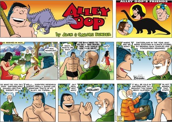 Alley Oop on Sunday September 9, 2018 Comic Strip