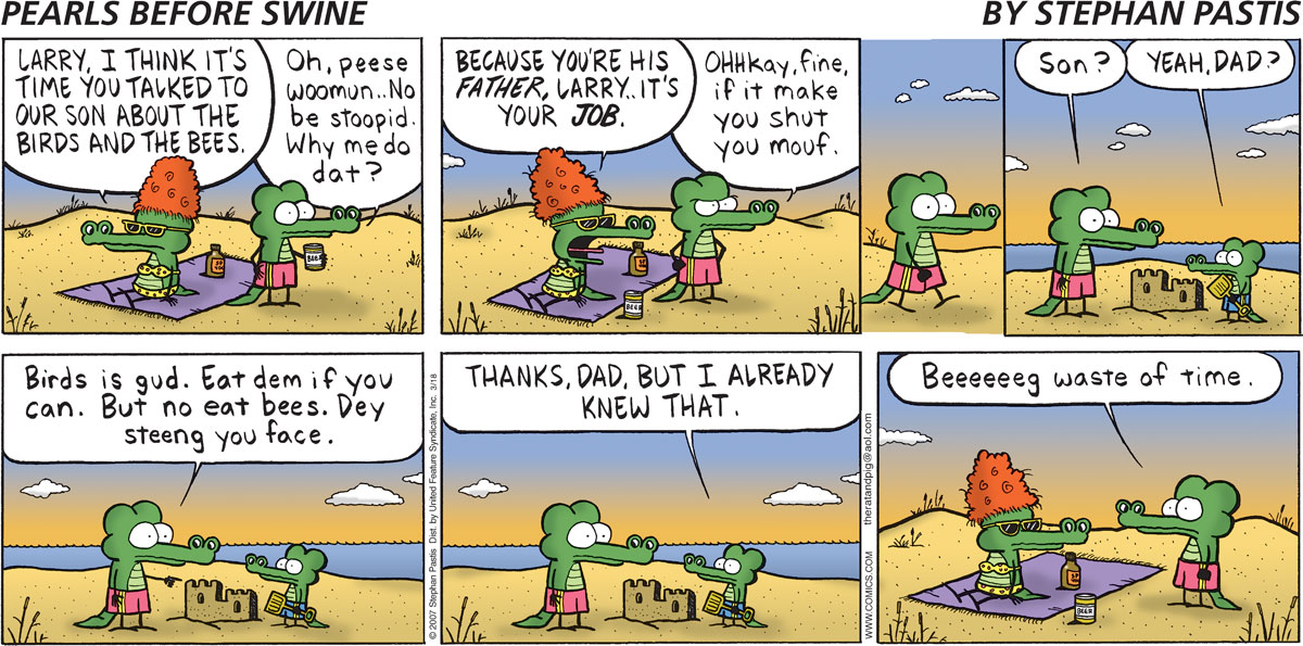 Pearls Before Swine Comic Strip for March 18, 2007