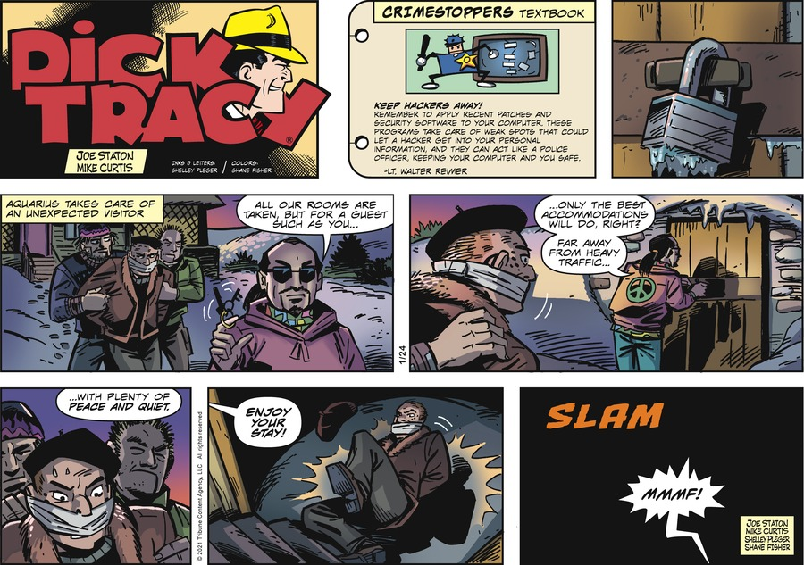 Dick Tracy Comic Strip for January 24, 2021