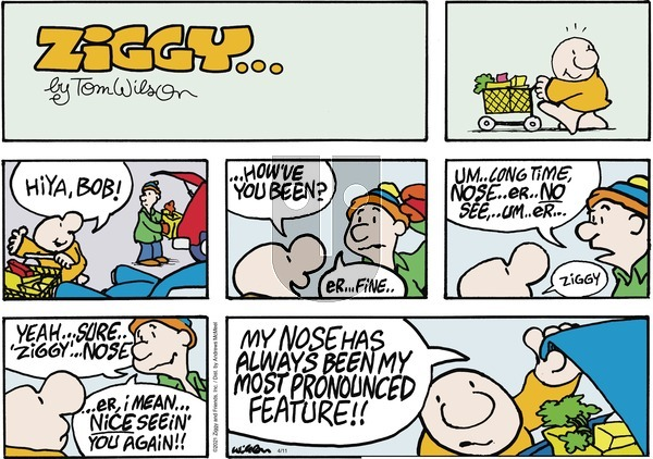 Ziggy on Sunday April 11, 2021 Comic Strip